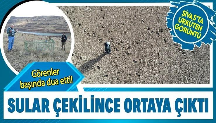 Sivas'ta ürküten görüntü! Sular çekilince ortaya çıktı, görenler başında dua etti...