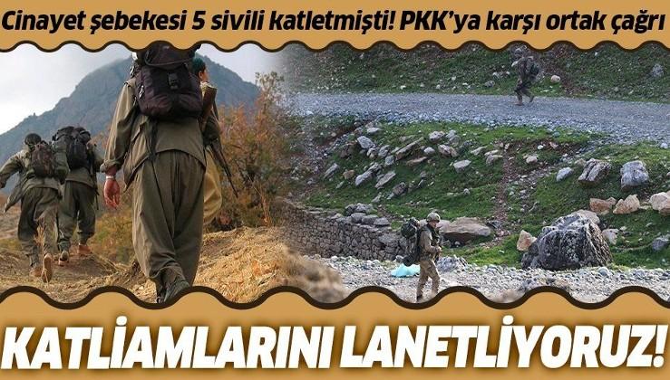 Cinayet şebekesi PKK terör örgütünün işçi ve sivil katliamlarını kınama çağrısı!