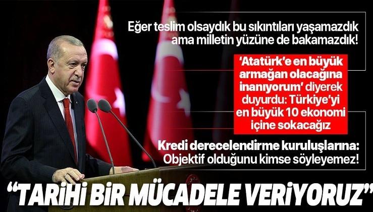 """Cumhurbaşkanı Erdoğan: """"Mücadelemizi Gazi Mustafa Kemal Atatürk'ün arzu ettiği şekilde sürdürüyoruz"""""""