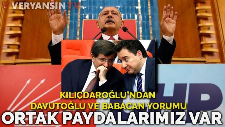 Kılıçdaroğlu: Babacan ve Davutoğlu'yla ortak paydalarımız var