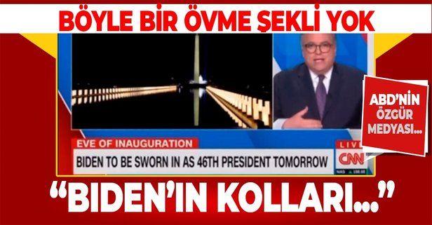 Böyle bir övme şekli yok! CNN muhabirinden Biden'a: