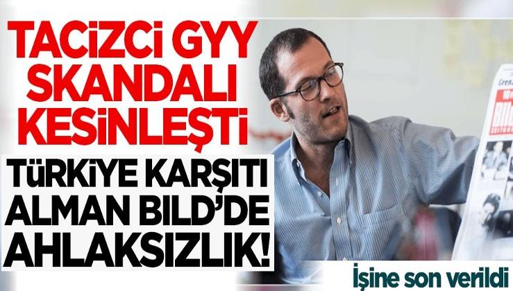 Türkiye karşıtı Alman Bild'de şok! Tacizci genel yayın yönetmeni kovuldu