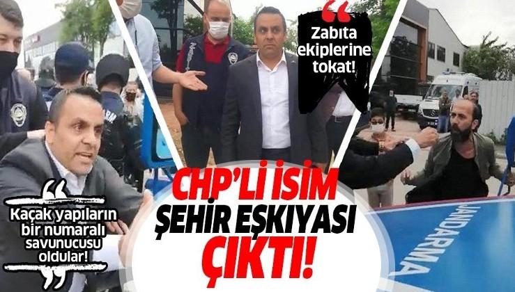 Bursa'da CHP'li Meclis Üyesi Şahin Sevinç kaçak yapı yıkımına gelen zabıta ekiplerini durdurmaya çalıştı, arkadaşı tokat attı