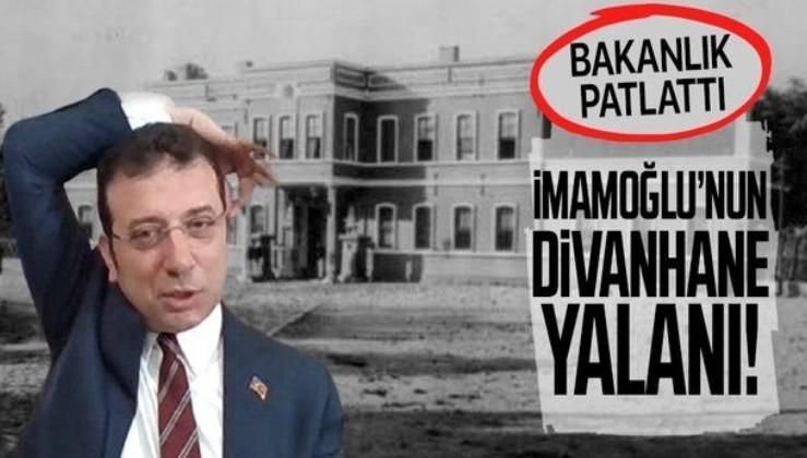 Ekrem İmamoğlu'nun 'Divanhane'nin Eski Karakol Binası' iddialarına yalanlama!