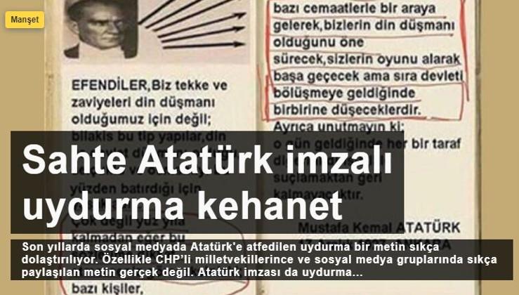 Sahte Atatürk imzalı uydurma kehanet