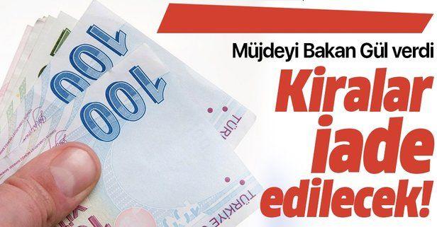 Son dakika: Adalet Bakanı Abdulhamit Gül açıkladı: O işletmelerden kira alınmayacak