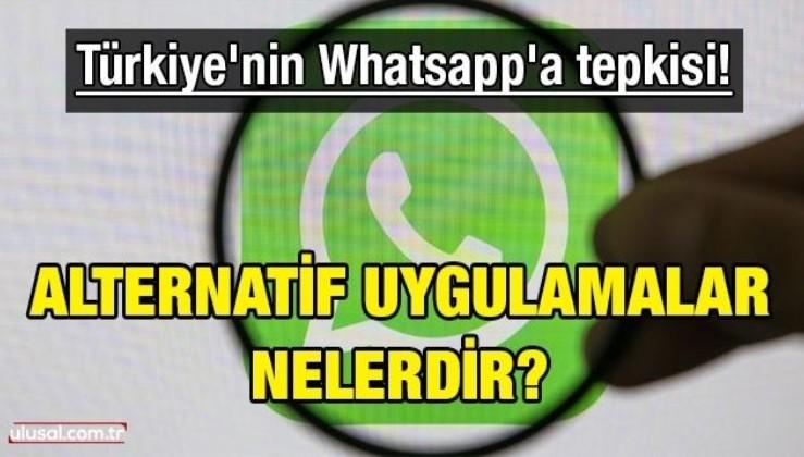 Türkiye'nin Whatsapp'a tepkisi! Alternatif uygulamalar nelerdir?