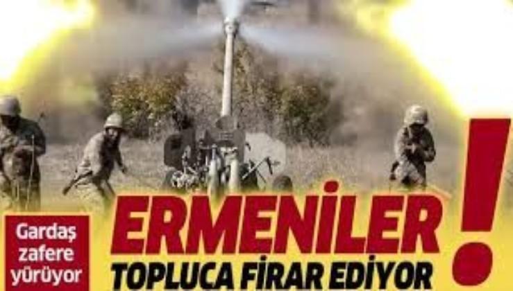 SON DAKİKA: Azerbaycan ordusu zafer yürüyüşünde: Ermeniler topluca firar ediyor