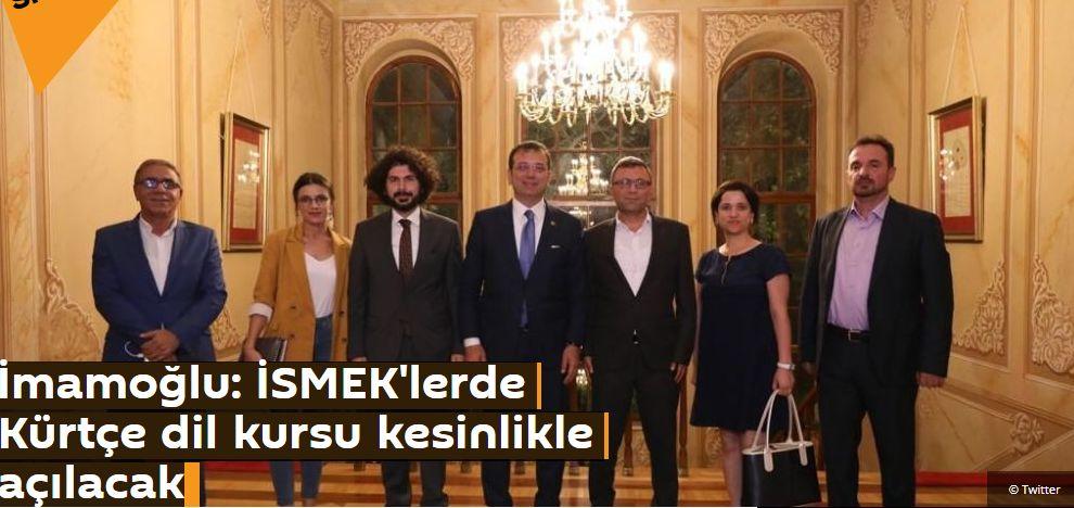 İmamoğlu: İSMEK'lerde Kürtçe dil kursu kesinlikle açılacak