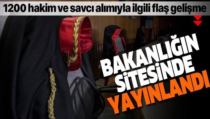 1200 hâkim ve savcı alımı için ilan web sitesinde yayınlandı