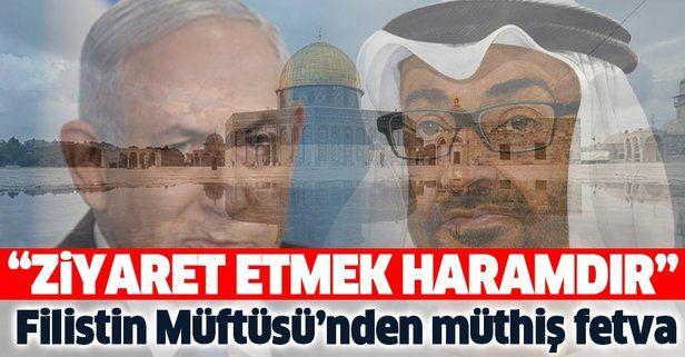 Kudüs ve Filistin Müftüsü Şeyh Muhammed Hüseyin: Normalleşme anlaşması kanalıyla Mescid-i Aksa'yı ziyaret etmek haramdır
