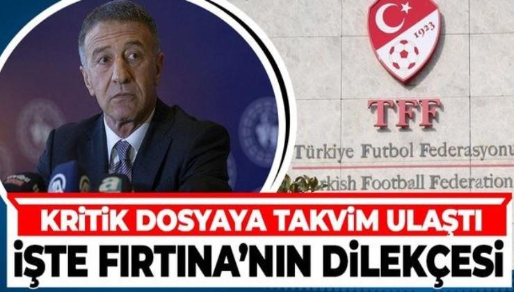 Trabzonspor'un TFF'yi FIFA'ya şikayet edeceği dosyaya TAKVİM ulaştı: İşte Trabzonspor'un şikayet dilekçesi