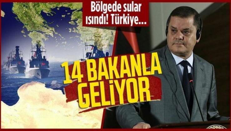 Libya Başbakanı Abdulhamid Dibeybe 5 başbakan yardımcısı ve 14 bakan ile Türkiye'ye geliyor