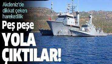 Akdeniz'de hareketli dakikalar! Önce Türkiye sonra da Yunanistan...