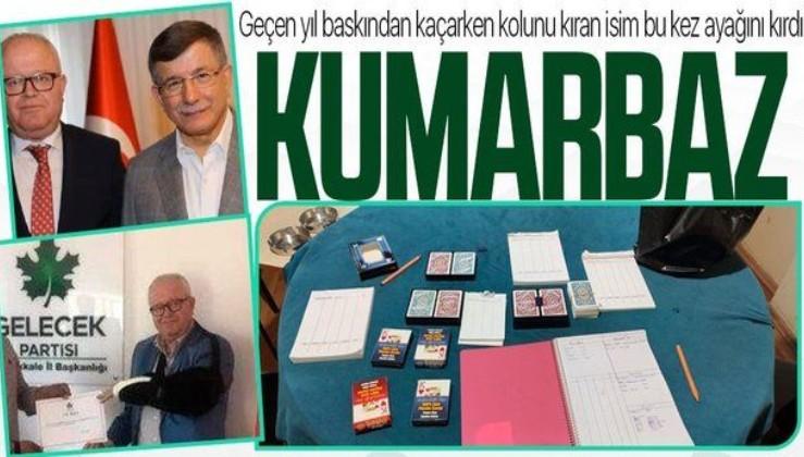 Gelecek Partisi eski il başkanı Hüseyin Yıldırım yine kumar operasyonunda yakalandı! Geçen yıl kolunu bu yıl da ayağını kırdı