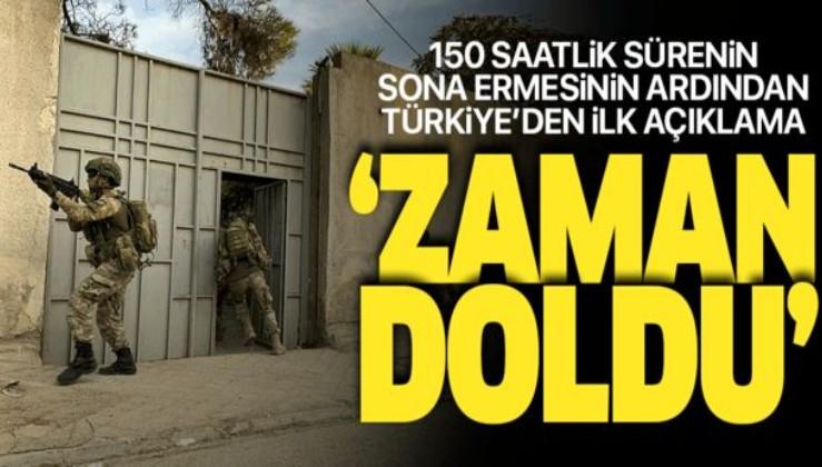 Soçi Mutabakatı sonrası verilen 150 saatlik süre sona erdi! Türkiye'den ilk açıklama geldi.