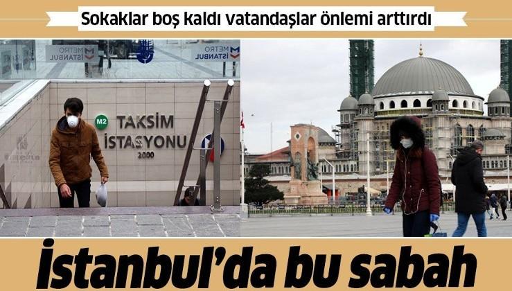 İstanbul'da bu sabah! Vatandaştan koronavirüs önlemi