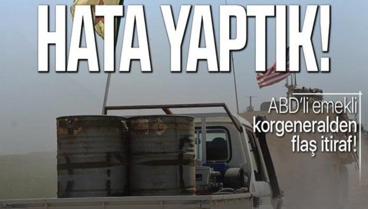 Son dakika: ABD'li emekli korgeneralden flaş YPG itirafı!