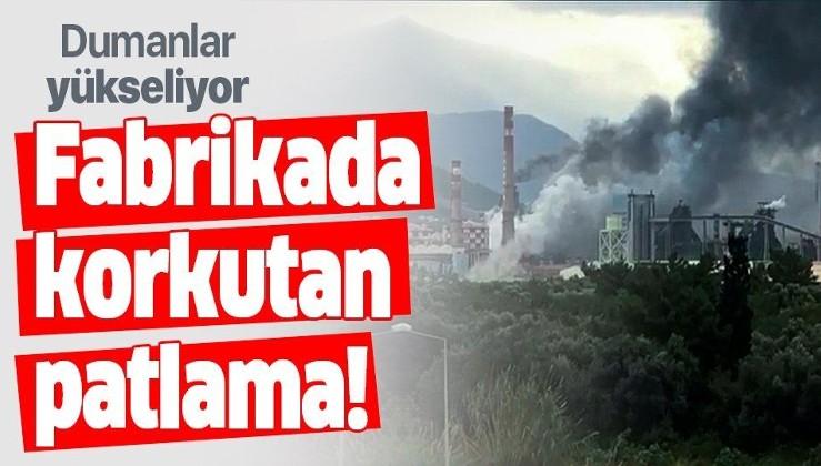 Son dakika haberi: Hatay'daki fabrikada korkutan patlama! Dumanlar yükseliyor....