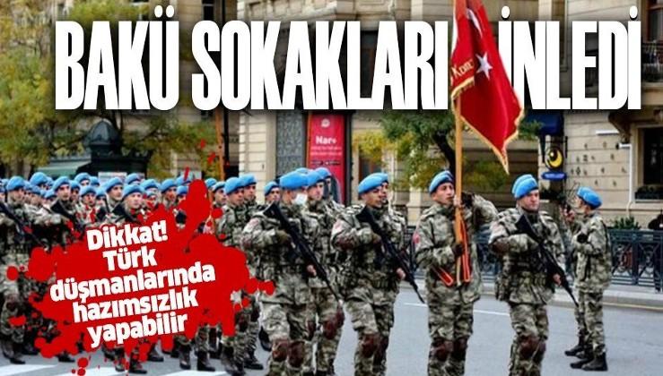 Türk komandoları Azerbaycan sokaklarını marşlarla inletti!