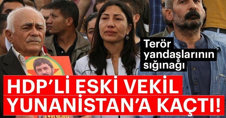 HDP'li Leyla Birlik Yunanistan'a kaçtı!