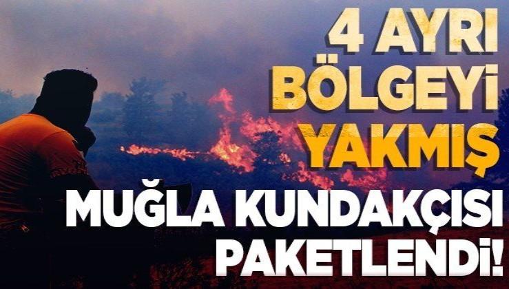 Muğla'da 4 ayrı bölgede orman yangını çıkardığı iddiasıyla gözaltına alınan zanlı tutuklandı