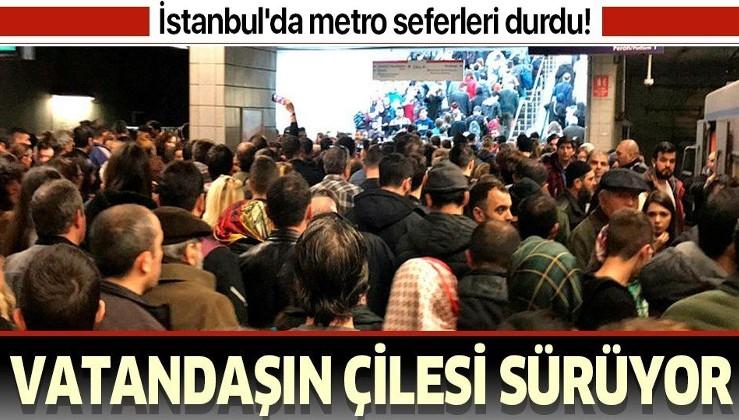 Son dakika: İstanbul'da metro seferlerinde aksama.