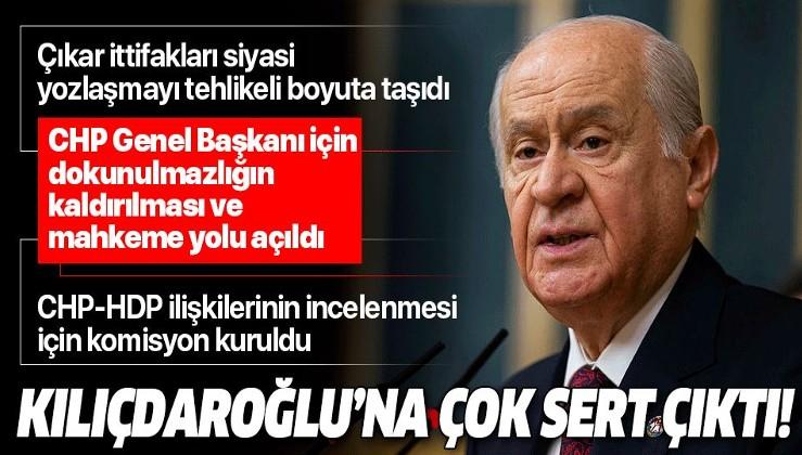 Son dakika! Bahçeli'den flaş açıklama: CHP Genel Başkanı için mahkeme yolu açıldı.
