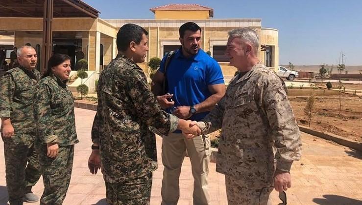 ABD'li üst düzey komutan Suriye'de PKK/YPG elebaşıyla