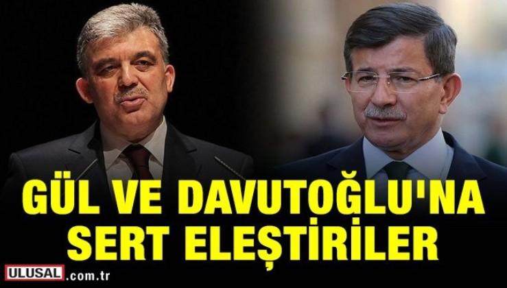 """Abdullah Gül ve Ahmet Davutoğlu'na sert eleştiriler! """"Nasıl olsa muhafazakar seçmen balık hafızalıdır! Unutmuştur"""""""