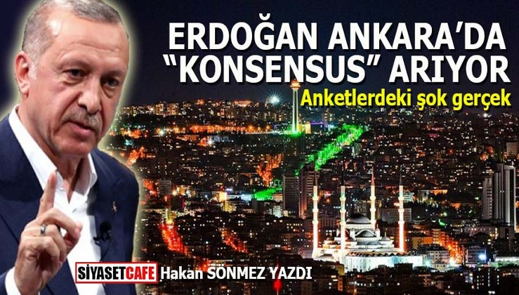 """Erdoğan Ankara'da """"konsensus"""" arıyor"""