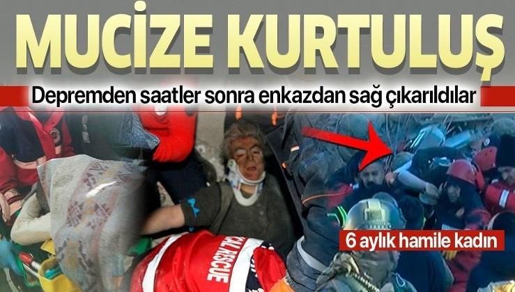 Elazığ'da mucize kurtuluş! Depremden saatler sonra enkazdan sağ çıkarıldılar