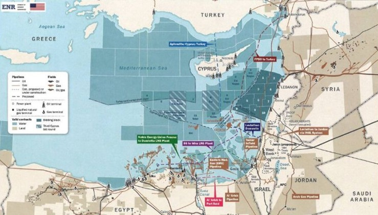 İşte Beyaz Saray'da asılı Doğu Akdeniz haritası