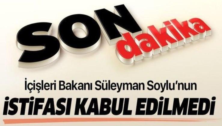 Son dakika: İletişim Başkanlığı duyurdu: İçişleri Bakanı Süleyman Soylu görevine devam edecek
