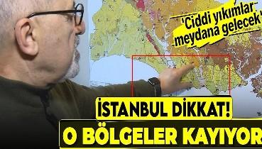 """İstanbul'a harita üzerinde son dakika deprem uyarısı! """"Depremde kayma hareketi heyelanlara dönüşecek"""""""