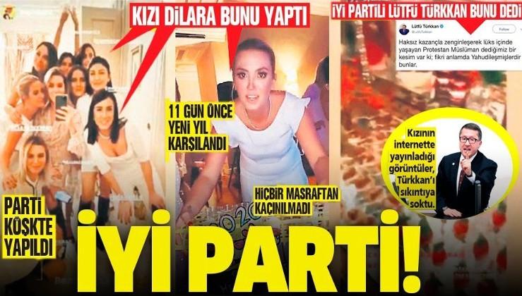 Lütfü Türkkan'ın kızı Dilara'dan köşkte lüks noel partisi!.