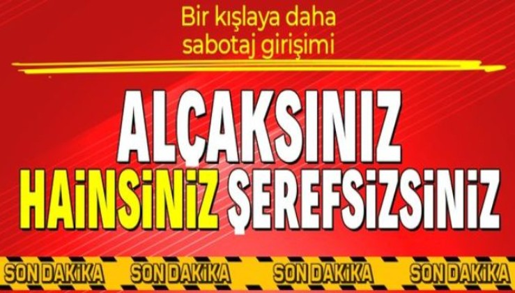 SON DAKİKA: İzmir'de Ulaştırma Personel Okulu ve Eğitim Merkezi Komutanlığı kışlasında yangın çıkarmak isteyen 2 kişi yakalandı