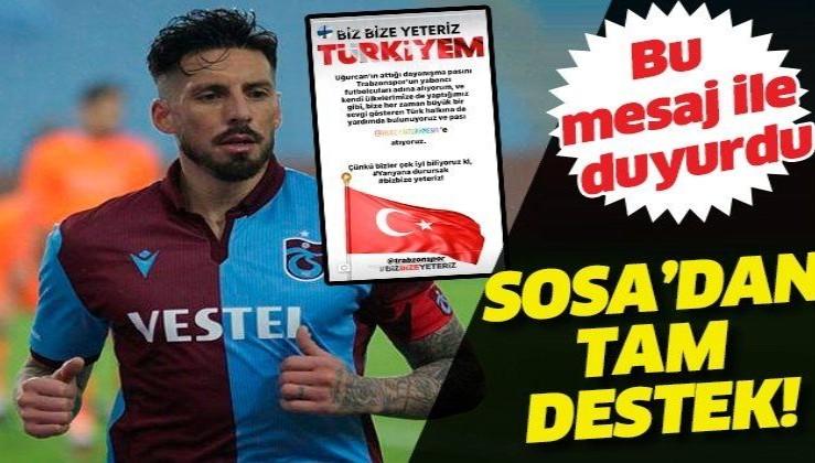 Trabzonsporlu Sosa'dan 'Milli Dayanışma Kampanyası'na destek