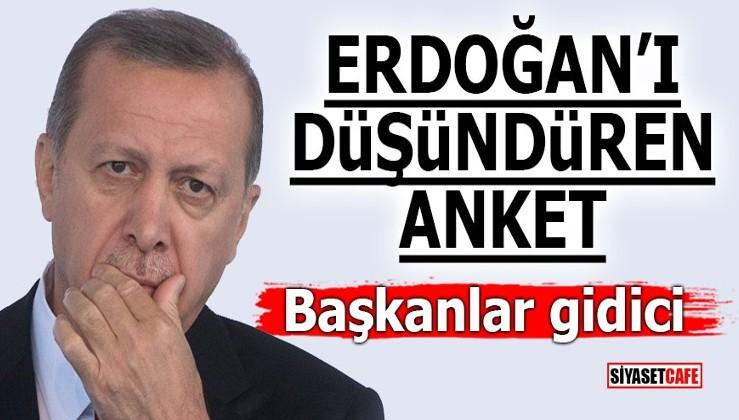 Erdoğan'ı düşündüren anket! Başkanlar gidici