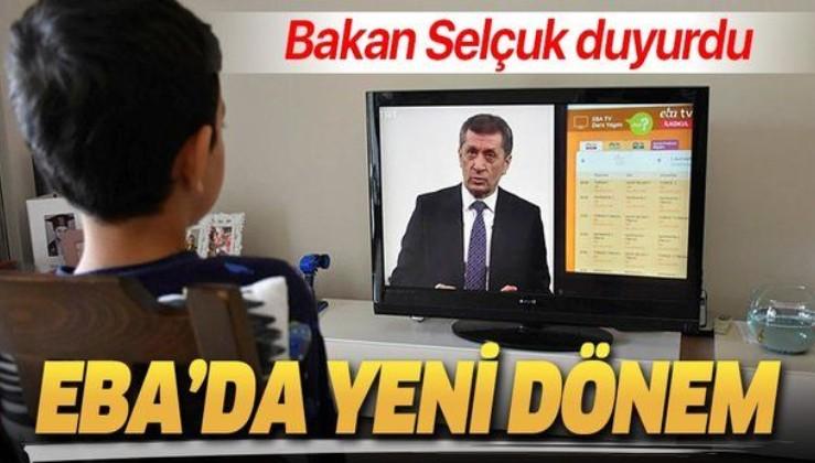 """Son dakika: Milli Eğitim Bakanı Ziya Selçuk açıkladı: """"EBA Canlı Sınıf"""" uygulaması devreye alınacak."""