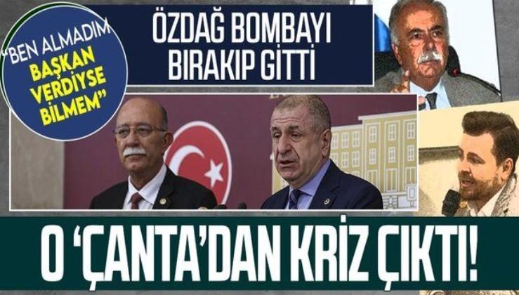 """Ümit Özdağ'ın """"çanta"""" açıklaması Millet İttifakı'nda kriz yarattı! Birbirlerine girdiler"""
