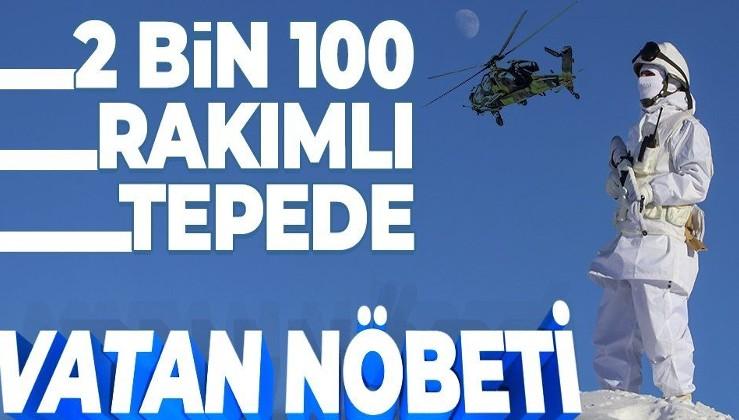 2 bin 100 rakımlı Tepeşin Tepe'de vatan nöbeti: Mehmetçik Irak sınırında teröristlere geçit vermiyor