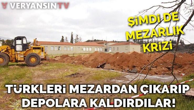 Şimdi de mezar gerilimi... Türk mezarlığındaki naaşları depolara kaldırdılar!