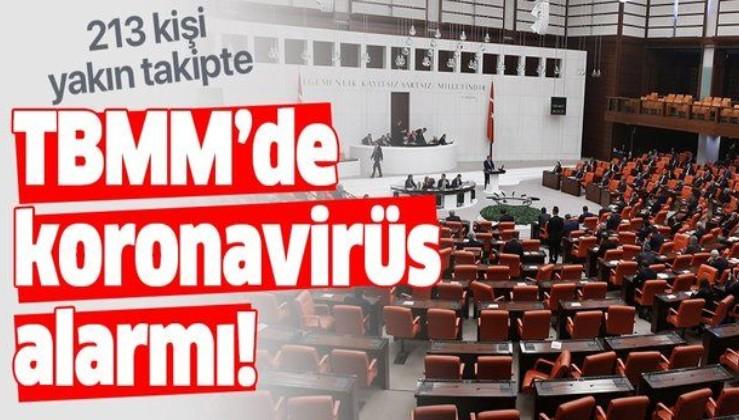 Son dakika: TBMM'de koronavirüs alarmı! Testi pozitif çıkan doktorla temas eden 213 kişi yakın takibe alındı