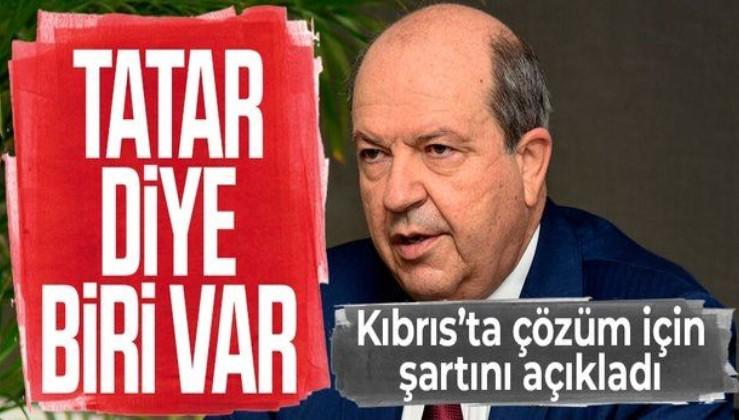 Cumhurbaşkanı Ersin Tatar, Kıbrıs'ta kalıcı çözüm için KKTC'nin tanınması gerektiğini söyledi
