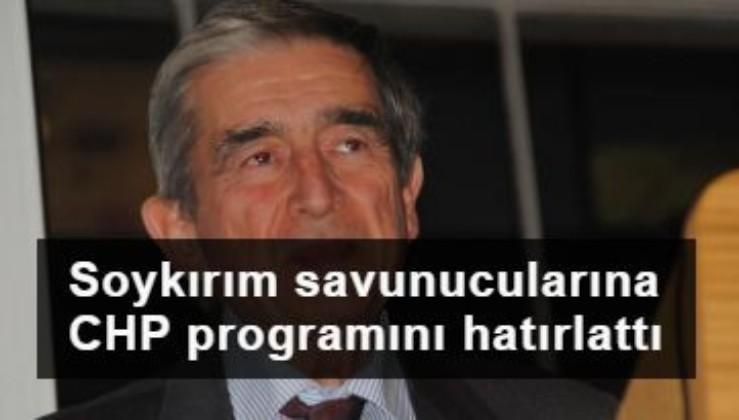 Öymen'den CHP'lilere 'Ermeni soykırımı' uyarısı