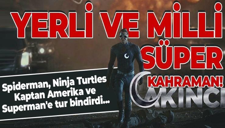 Yerli ve milli süper kahraman AKINCI! Spiderman, Ninja Turtles, Kaptan Amerika ve Superman'e tur bindirdi...