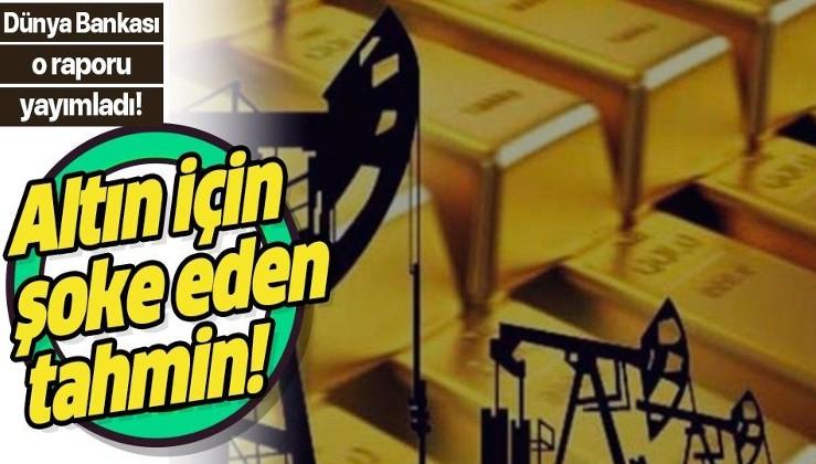 Dünya Bankası'ndan altın fiyatları için şoke eden tahmin!