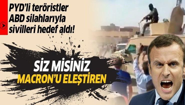 İslam'a saldıran Fransa ve Macron'u protesto eden Deyrizor halkına PKK/PYD'li teröristler ateş açtı