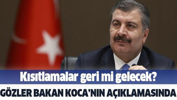 Koronavirüs Bilim Kurulu toplanıyor! Sağlık Bakanı Fahrettin Koca açıklama yapacak